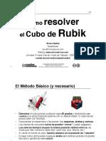 ¿cómo resolver el cubo de Rubik?