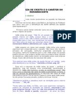 1A NATUREZA DE CRISTO E O CARÁTER DO REMANESCENTE