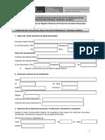 Formulario de Registro Persona Juridica