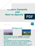 BCA - Modern Cements and How to Specify Them - March 2005