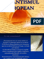 Romantismul European