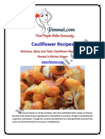 Penmai Cauliflower Recipes eBook