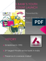Axis Bank's Youth Account Launch