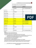 Schedule Draft 32714