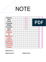 Planificare Note