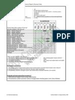 Briefly Structural Inspection Form (Form Laporan Inspeksi Struktural Ringkas)