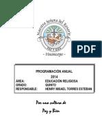 Programacion Quinto 2014 2