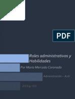 Roles Administrativos y Habilidades - Mario Mercado Coronado - A2D