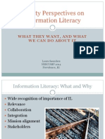 Faculty Perspectives on Information Literacy