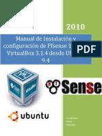 Manual de Instalacion de Pfsense en VirtualBox Desde Ubuntu 9.4