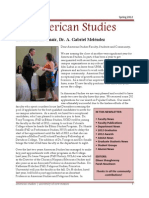 Department of American Studies 2012 Newsletter