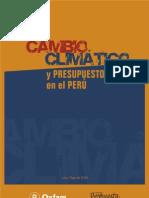 Cambio Climático y presupuesto público en el Perú