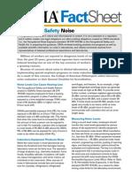 OSHA factsheet Laboratory Safety Noise
