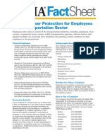 OSHA Factsheet Whistleblower Trans Sector