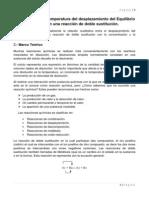 Concentración y Temperatura del desplazamiento del Equilibrio Químico en una reacción de doble sustitución.