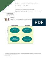 Unit 3 P1 Marketing Techniques Ansoff Matrix Notes