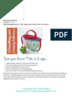 PDF Sewing Pattern - The Yum-Yum Lunch Tote_ in 2 Sizes - U-Handblog