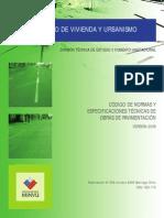 Codigo de Norma y Especificaciones Tecnicas de Obras de Pavimentación