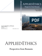 Applied Ethics - Perspectives From Romania