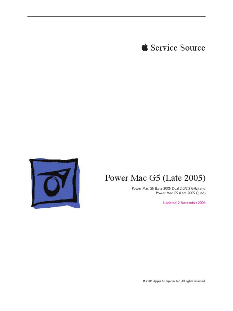 Apple Power Mac G5 Quad 2 5 Dual 2 0 2 3 Ghz Service Repair Manual |  Airport | Macintosh