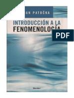 Jan Patočka - Introducción a la fenomenología