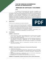 Contenido Del Curso Mercado de Capitales y de Dinero