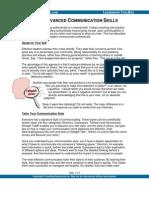 Four Advanced Communication Skills