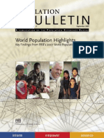 Highlights World Population Datasheet