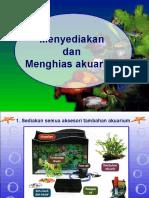 Langkah penyediaan akuarium