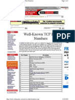 Well Known Tcp Port Numbers