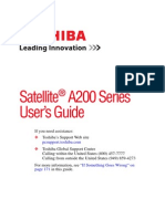 Satellite A200 Series User's Guide
