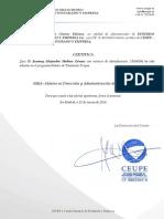 Certificado Admision Josenny Alejandro Medina Gómez