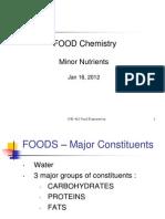 Food Chemistry Minor Nutrients