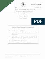 CAPE Pure Mathematics Unit 1 Paper 2 June 2005