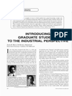 Introducing Graduate Students to the Industrial Perspective