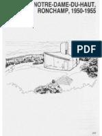 Le Corbusier - Analisis de La Forma - Ronchamp