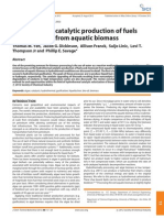 Hydrothermal Catalytic Production of Fuels and Chemicals From Aquatic Biomass