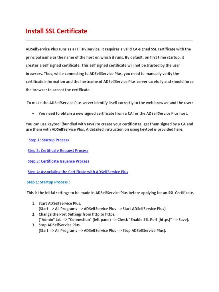 Adselfserviceplus Installsslcertificate Public Key Certificate