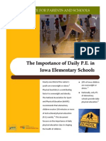 Importance of Elementary PE in Iowa Elementary Schools