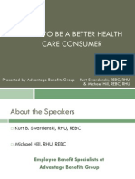 Be a Smart Healthcare Consumer Presentation - Final