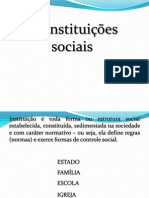 Aula Instituicoes-sociais - Sociologia