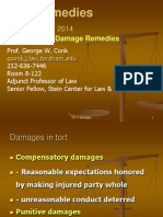 Ch.7.Compensatory Damages Fall 2014 Prof. George W. ConkFordham Law Schoolgconk@law.fordham.edu