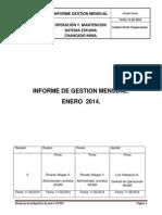 Informe de Gestion Mensual Enero 2014.