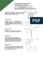 PROBLEMAS DE FZAS COPLANARES Y ESPACIALES (2° Y 3° SEMANA)