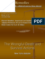 Economic loss and death damages in tort - New York State
