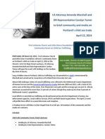 Child Sex Trafficking Forum April 12 Portland Unitarian