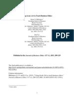 Using Inside Job to Teach Business Ethics (JBE-2013)