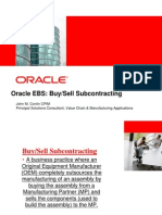 Oracle Buy Sell Subcontracting