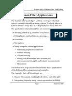 Kalman Filter Applications