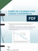 DISEÑO DE COLUMNAS PARA CARGAS CONCÉNTRICAS